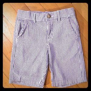 Dressed Up by Gymboree, Seersucker Shorts, Size S